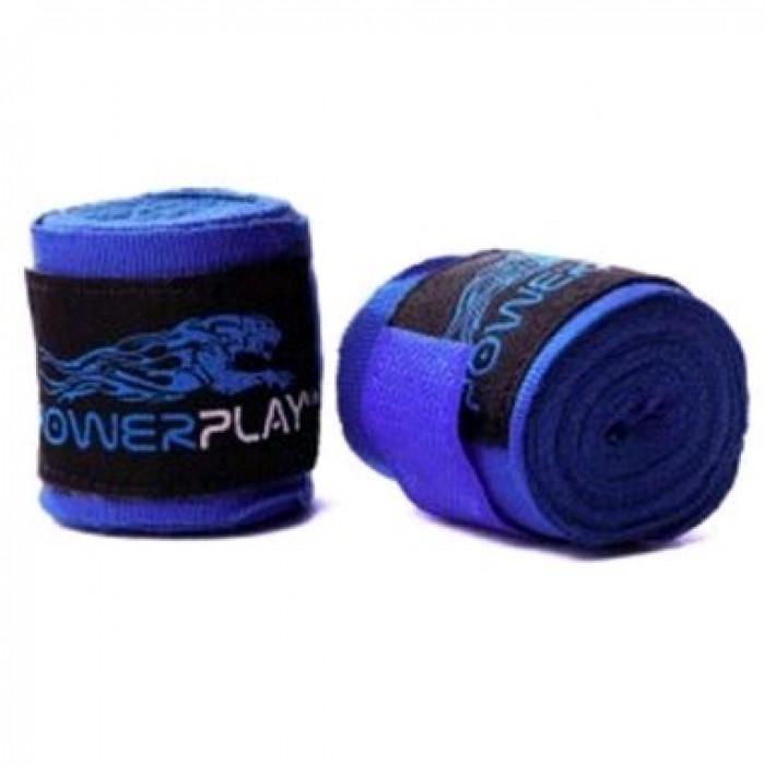Боксерские бинты PowerPlay (3046) Blue 4 м